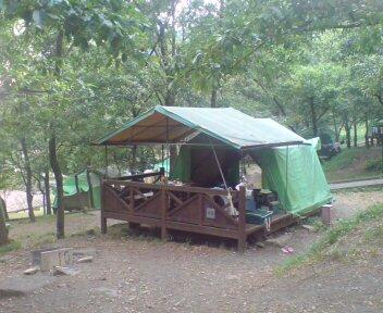 初キャンプは矢谷渓谷
